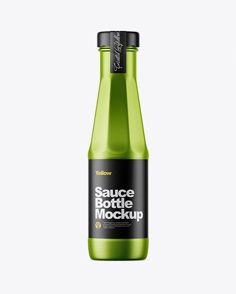 Metallized Sauce Bottle Mockup