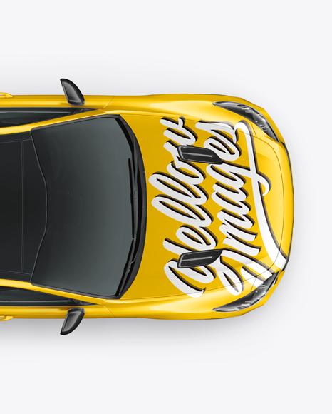 Sport Car Mockup - Top View
