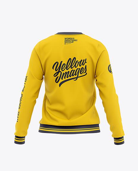 Women's Crew Neck Sweatshirt - Back View