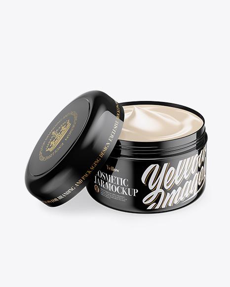 Download Glossy Shoe Polish Cream Jar Psd Mockup Yellowimages