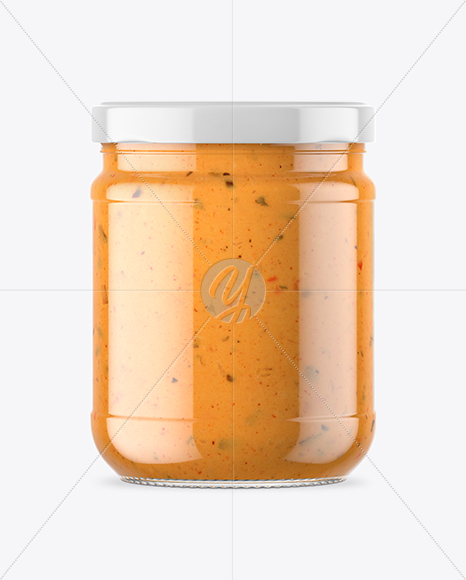 Download Clear Glass Cheese Sauce Jar Psd Mockup Yellow Images