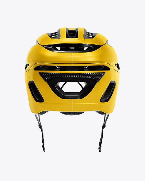Cycling Helmet Mockup - Back View