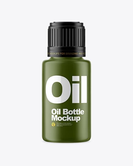 Matte Oil Bottle Mockup