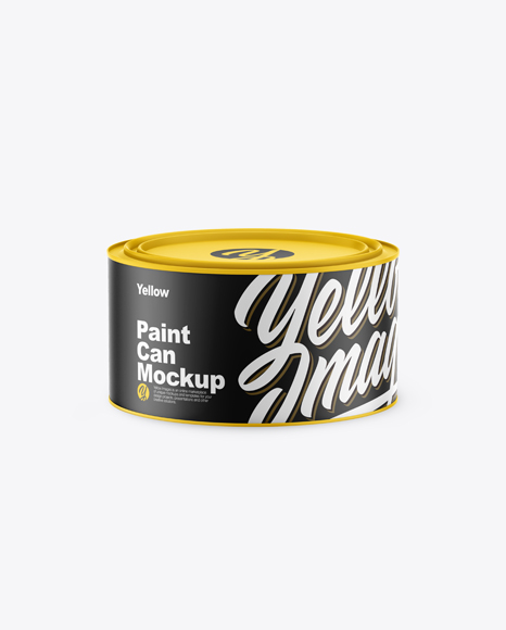 Matte Paint Can Mockup