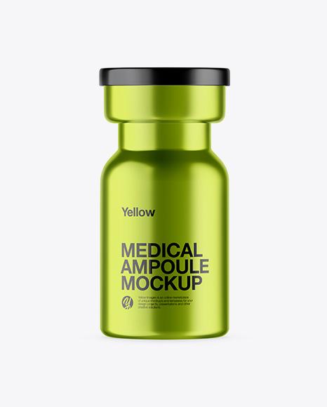 Metallic Medical Ampoule Mockup