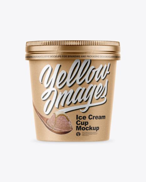 Kraft Ice Cream Cup Mockup