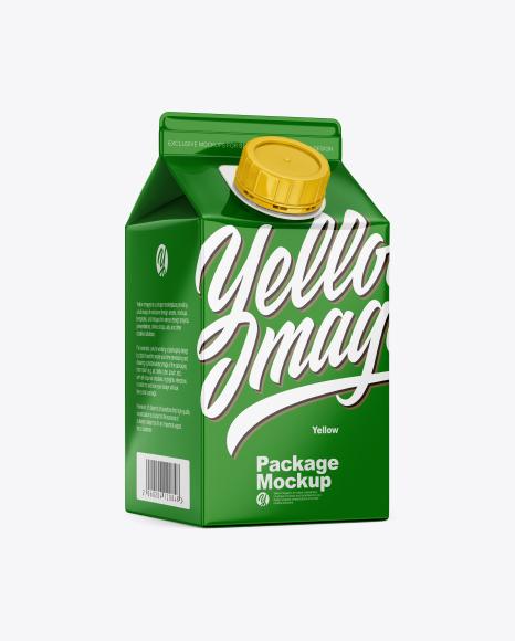 Glossy Carton Package Mockup