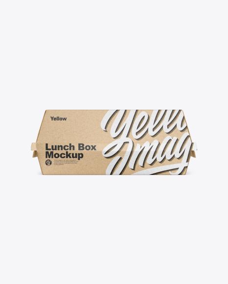 Kraft Lunch Box Mockup