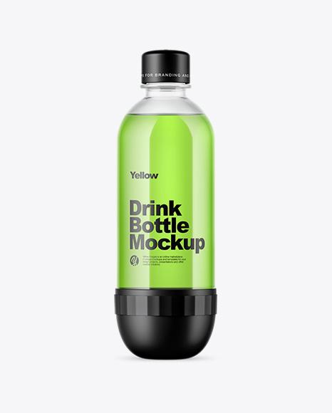 Clear PET Energy Drink Bottle Mockup