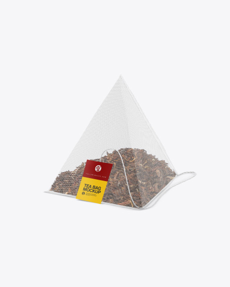 Pyramid Tea Bag Mockup