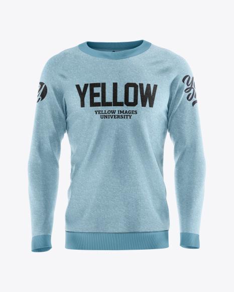 Men's Melange Sweatshirt Mockup
