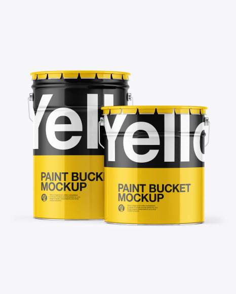 Download 20l Glossy Paint Bucket Psd Mockup Yellow Images