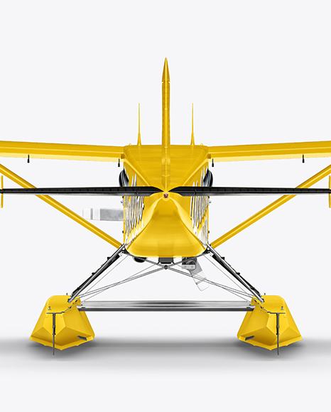 Seaplane Mockup - Back View
