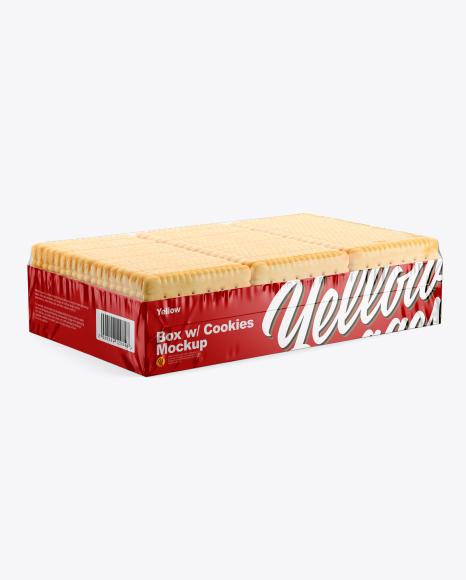 Box w/ Cookies Mockup