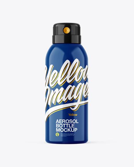 Glossy Aerosol Bottle Mockup