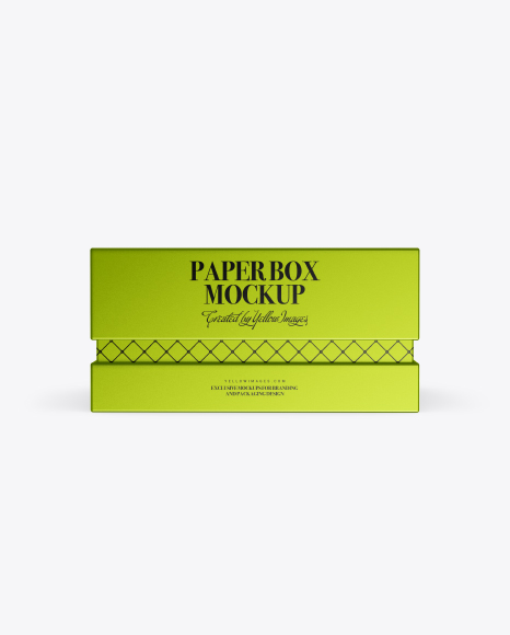 Matte Metallized Paper Box Mockup