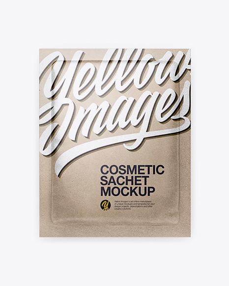 Kraft Cosmetic Sachet Mockup