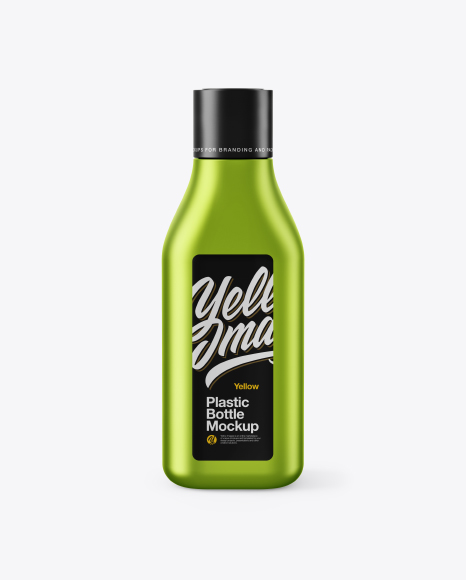 Matte Metallic Square Bottle Mockup