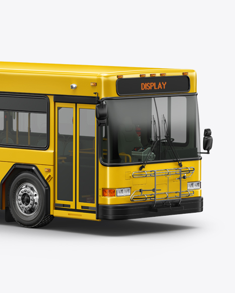 Hybrid Bus Mockup - Half Side View