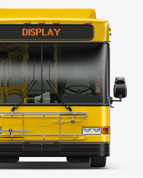 Hybrid Bus Mockup - Front View