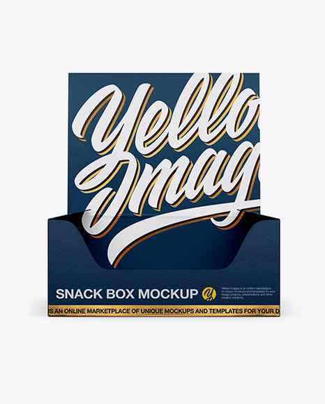 Textured Snack Box Mockup