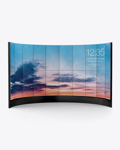 LCD Interactive Wall Stand Mockup