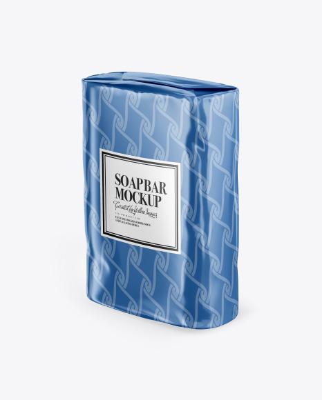 Glossy Soap Bar Package Mockup