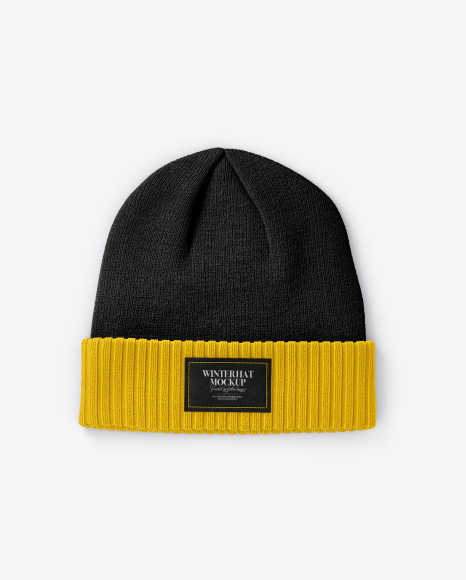 Download Beanie Hat Mockup Front View Yellowimages