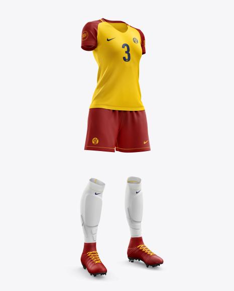 Women's Full Soccer Kit mockup
