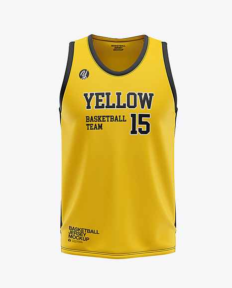 Download Men's U-Neck Basketball Jersey Mockup - Front View in ...
