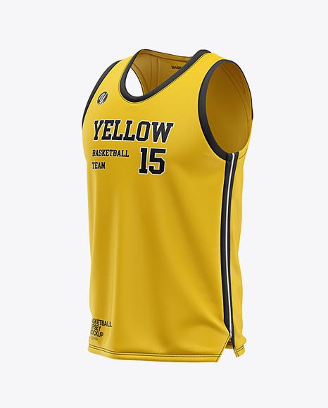 Download Men's U-Neck Basketball Jersey Mockup - Front Half Side ...