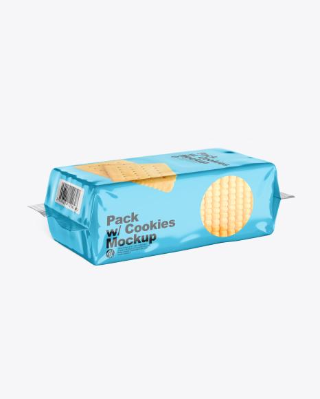 Pack w/ Cookies Mockup