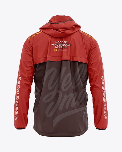 Men's Lightweight Hooded Windbreaker Jacket - Back View