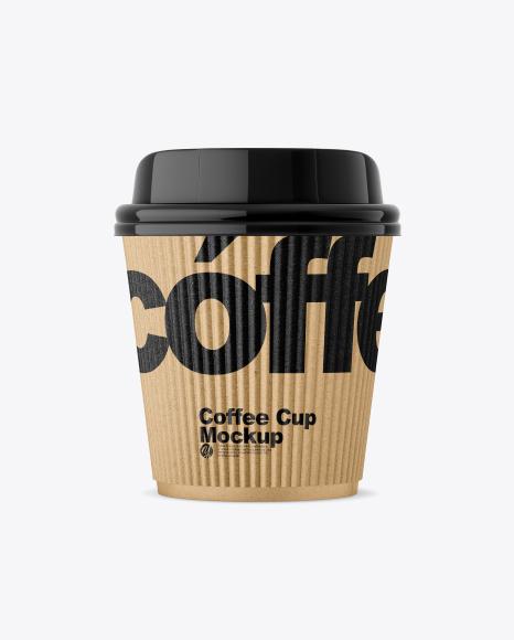 Kraft Coffee Cup w/ Sleeve Mockup