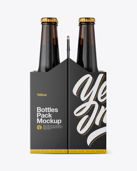 Amber Bottles Pack Mockup