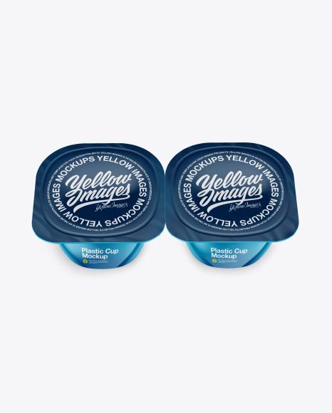 2 Pack Yougurt Mockup