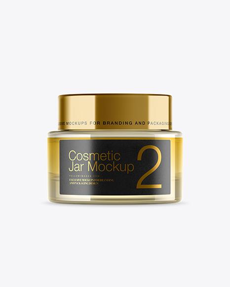 Glass Cosmetic Gel Jar Mockup