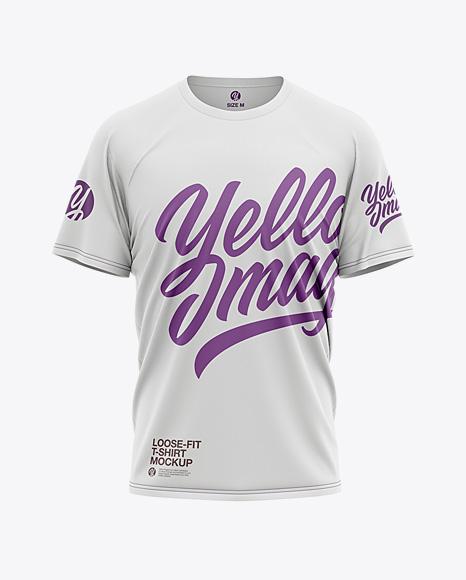 Men's Loose Fit Graphic T-Shirt - Front View