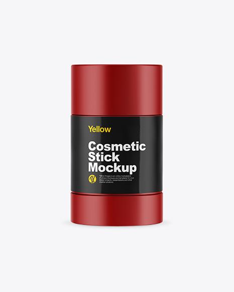 Matte Cosmetic Stick Mockup