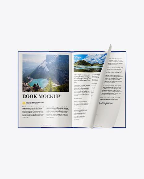 Opened Matte Book Mockup