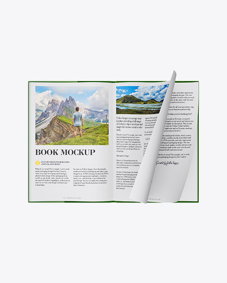 Opened Textured Book Mockup