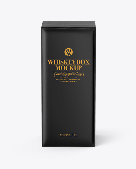 Whiskey Box Mockup