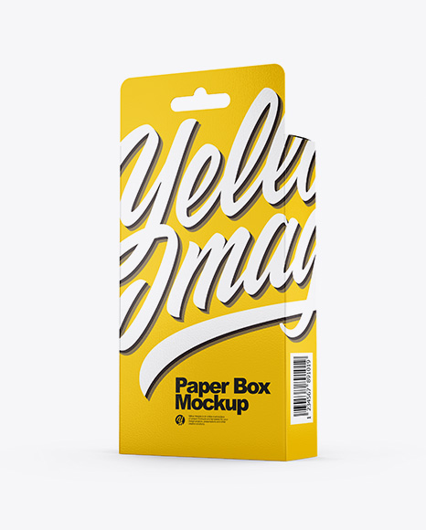 Paper Box PSD Mockup