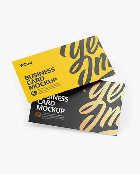 Two Business Cards PSD Mockup