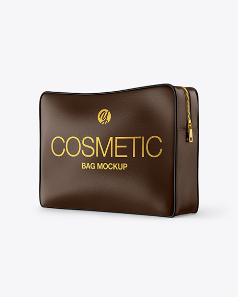 Get free money towards your purchases with creative market credits. Leather Cosmetic Bag Mockup In Bag Sack Mockups On Yellow Images Object Mockups