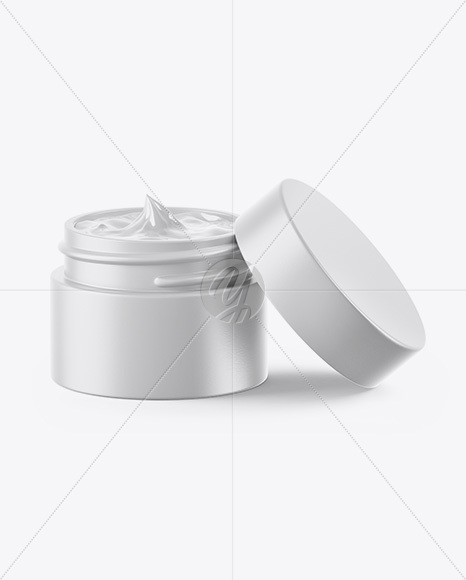 Download Opened Dark Amber Frosted Glass Cosmetic Jar In Wooden Shell Psd Mockup Yellowimages
