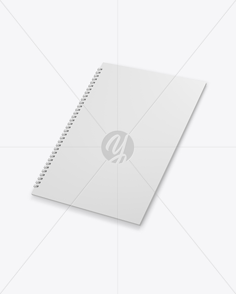 Download Workbook With Matte Transparent Cover Psd Mockup Yellowimages