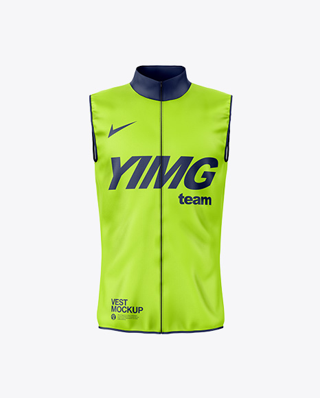 The item is presented in a half side view. Vest Mockup In Apparel Mockups On Yellow Images Object Mockups