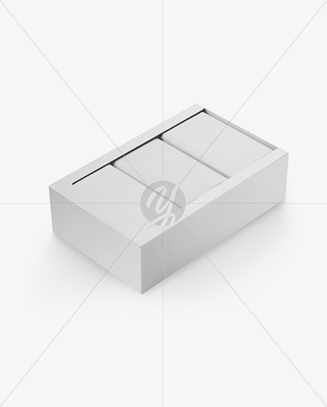 Download Square Tissue Box Mockup Yellow Images