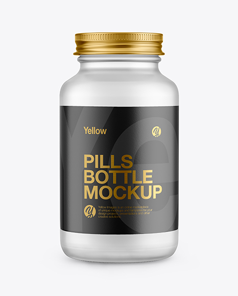 Download Glass Jar With Pills Psd Mockup Yellowimages